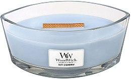 Düfte, Parfümerie und Kosmetik Duftkerze im Glas Soft Chambray - WoodWick Hearthwick Flame Ellipse Candle Soft Chambray