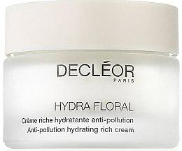 Düfte, Parfümerie und Kosmetik Reichhaltige feuchtigkeitsspendende Gesichtscreme gegen Unreinheiten - Decleor Hydra Floral Anti-Pollution Hydrating Rich Cream