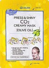 Düfte, Parfümerie und Kosmetik Glättende Gesichtsmaske mit Olivenöl - Celkin Press & Shiny Creamy CO2 Mask