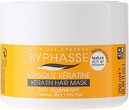 Düfte, Parfümerie und Kosmetik Maske für trockenes und erschöpftes Haar mit Olive, Shea und Argan - Byphasse Keratin Hair Mask