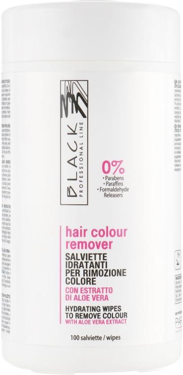 Tücher zur Farbentfernung mit Aloe Vera - Black Professional Line Hair Color Remover Wipes — Bild N1