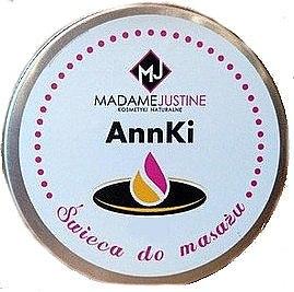 Massage- und Aromatherapiekerze aus Sheabutter und Kokosöl - Madame Justine AnnKi — Bild N1