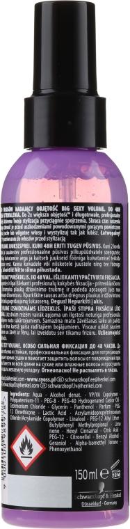 Volumen Haarspray - Syoss Big Sexy Volume Blow Dry Spray — Bild N2