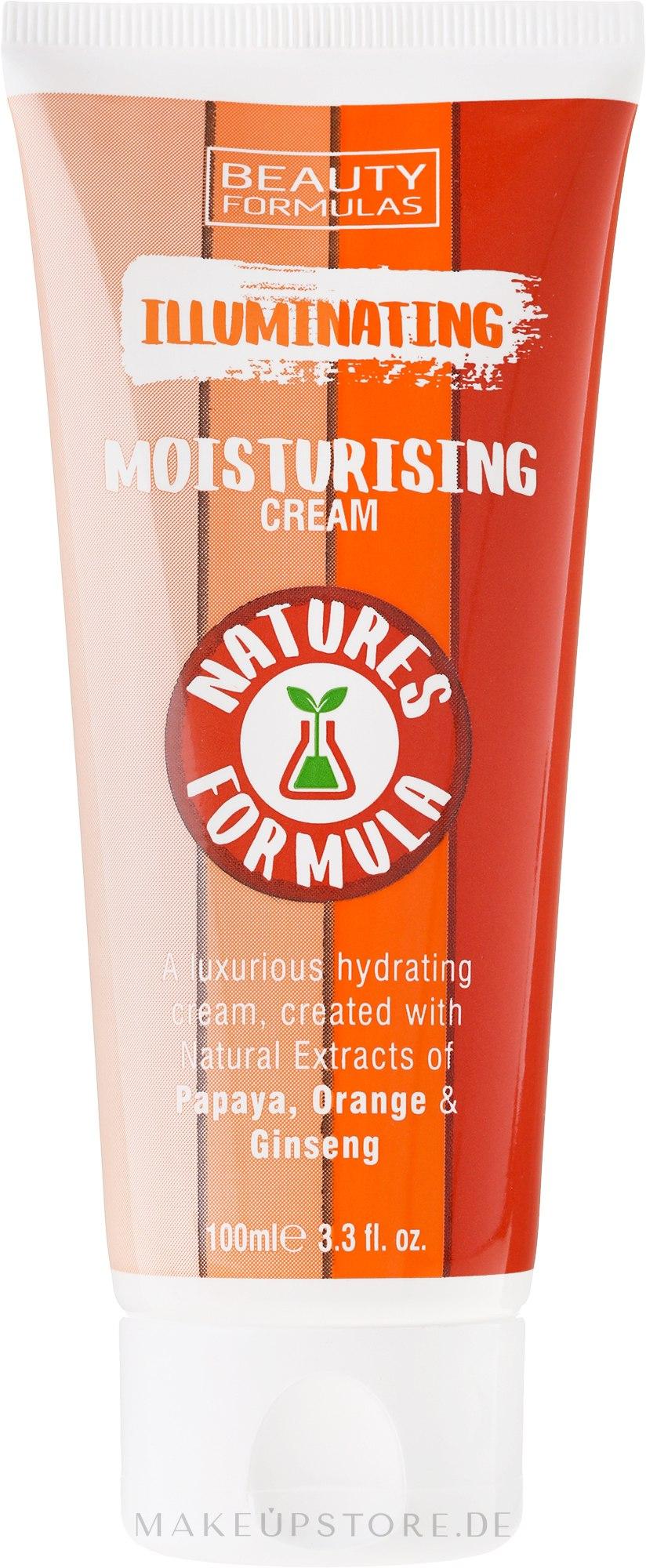 Aufhellende und feuchtigkeitsspendende Gesichtscreme - Beauty Formulas Natures Formula Illuminating Moisturizer Cream — Bild 100 ml