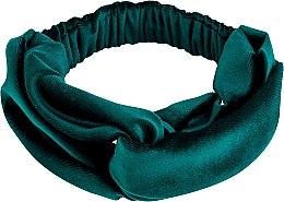 Düfte, Parfümerie und Kosmetik Haarband Velour Twist dunkelgrün - MakeUp Hair Accessories