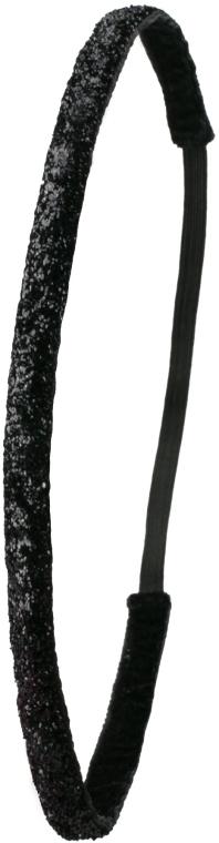 Haarband schwarz glänzend - Ivybands Black Glitter Super Hair Band — Bild N1