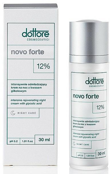 Intensiv verjüngende Nachtcreme für das Gesicht mit 12% Glykolsäure - Dottore Novo Forte — Bild N2