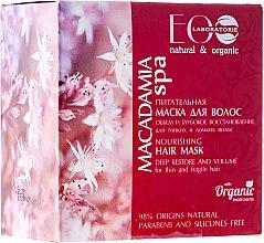 Düfte, Parfümerie und Kosmetik Pflegende und regenerierende Volumen-Haarmaske - ECO Laboratorie Macadamia SPA Hair Mask