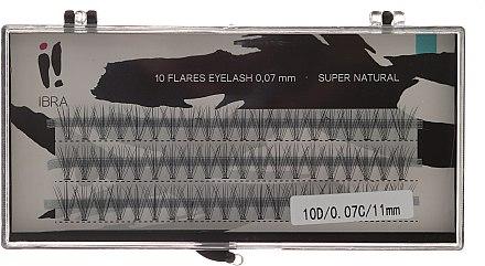 Wimpernbüschel-Set C 11 mm - Ibra 10 Flares Eyelash Knot-fre Naturals — Bild N1