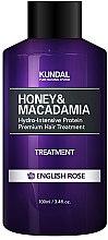 Düfte, Parfümerie und Kosmetik Feuchtigkeitsspendende Haarspülung mit englischer Rose - Kundal Honey & Macadamia Treatment English Rose