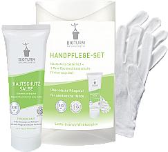 Düfte, Parfümerie und Kosmetik Handpflegeset - Bioturm Hand Care Set (Hautschutz-Salbe 50ml + Handschuh 2 St.)