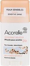 Düfte, Parfümerie und Kosmetik Deostick mit Mandelblüte - Acorelle Deodorant Stick Gel Almond Blossom