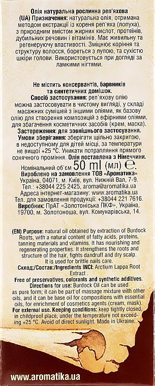 Natürliches Klettenöl - Aromatika — Bild N3