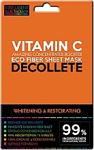 Düfte, Parfümerie und Kosmetik Aufhellende und regenerierende Tuchmaske für das Dekolleté mit Vitamin C - Beauty Face IST Whitening & Restorating Decolette Mask Vitamin C