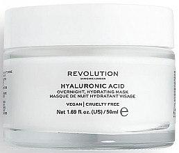 Düfte, Parfümerie und Kosmetik Nachtmaske für das Gesicht mit Hyaluronsäure - Makeup Revolution Skincare Hyaluronic Acid Overnight Hydrating Face Mask