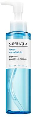 Gesichtrseinigungsöl mit blauem Lotus - Missha Super Aqua Watery Cleansing Oil — Bild N1