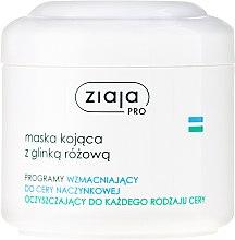 Düfte, Parfümerie und Kosmetik Beruhigende Gesichtsmaske mit Rosa Ton - Ziaja Pro Soothing Mask with Pink Clay