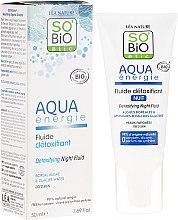 Düfte, Parfümerie und Kosmetik Detox Nachtfluid für müde Haut - So'Bio Etic Aqua Energie Detoxifying Fluid Night