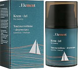 Düfte, Parfümerie und Kosmetik Creme-Gel für das Gesicht mit Taurin und Tara-Baum - _Element Men Cream For Face