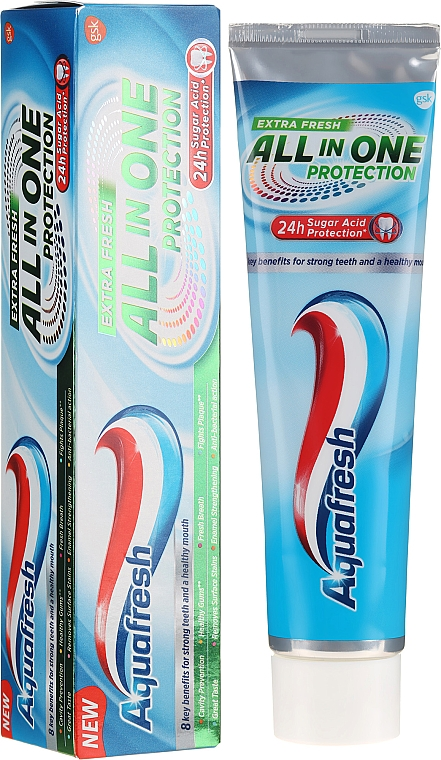 Zahnpasta All In One Protection Extra Fresh - Aquafresh All In One Protection Extra Fresh — Bild N1