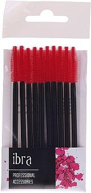 Wimpernbürste aus Silikon schwarz-rot 10 St. - Ibra — Bild N1