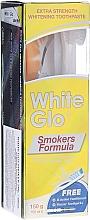 Düfte, Parfümerie und Kosmetik Zahnpflegeset für Raucher - White Glo Smokers Formula Whitening Toothpaste (Zahnpasta 100ml + Zahnbürste hellgrün + Interdentalzahnstocher)