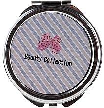 Düfte, Parfümerie und Kosmetik Kosmetischer Taschenspiegel rund 85598 mit schrägen Linien - Top Choice Beauty Collection Mirror