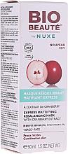 Düfte, Parfümerie und Kosmetik Mattierende und ausgleichende Gesichtsmaske mit Cranberry-Extrakt und Hyaluronsäure - Nuxe Bio Beaute Express Mattifying Rebalancing Mask