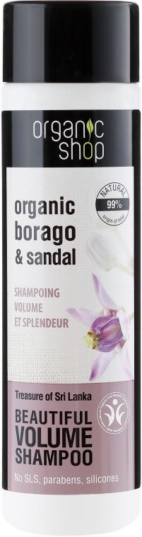 Volumen Shampoo mit Bio-Boragoöl & Sandelholzextrakt - Organic Shop Organic Sandal and Indian Nut Volume Shampoo — Bild N1