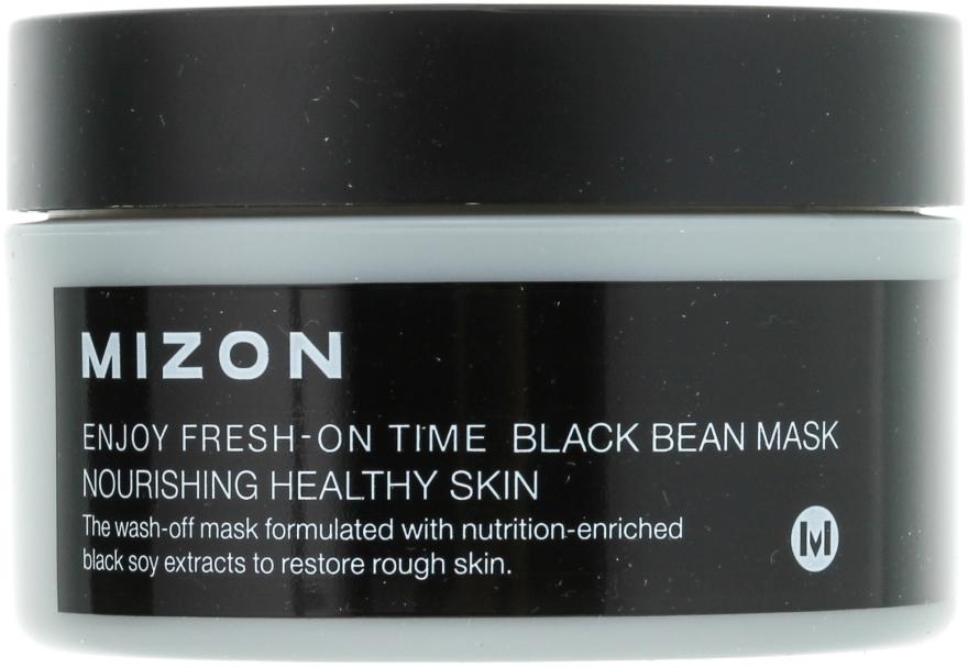 Pflegende Gesichtsmaske mit schwarzen Bohnen - Mizon Enjoy Fresh On-Time Black Bean Mask — Bild N2
