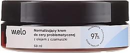 Düfte, Parfümerie und Kosmetik Normalisierende Gesichtscreme mit Schwarzkümmelöl - Melo