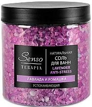 Düfte, Parfümerie und Kosmetik Beruhigendes Anti-Stress Badesalz mit Lavendel und Kamille - Senso Terapia Lavender Anti-stress
