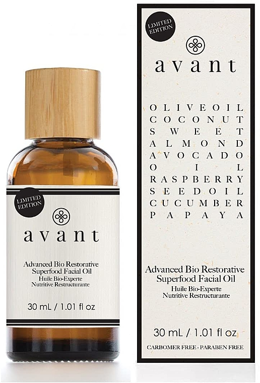 Extra pflegendes Gesichtsöl Antialterung - Avant Advanced Bio Restorative Superfood Facial Oil — Bild N1