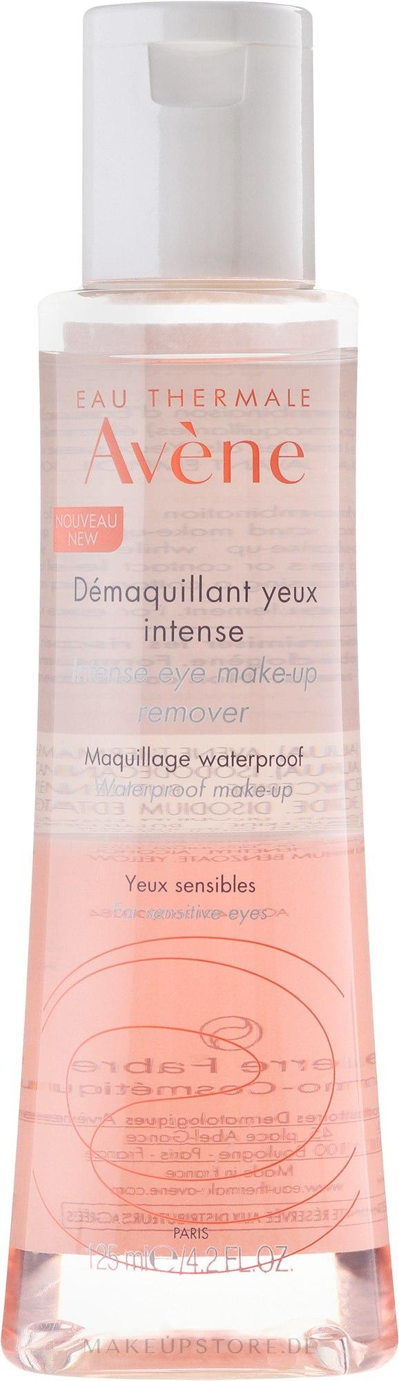 Zweiphasiger Make-Up Entferner für empindliche Augen - Avene Intense Eye Make-up Remover — Bild 125 ml