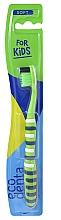 Düfte, Parfümerie und Kosmetik Kinderzahnbürste weich grün-dunkelblau-weiß - Ecodenta Soft Toothbrush For Children
