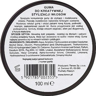 Modellierende Haarpaste Extra starker Halt - Tenex Stile Unico Guma — Bild N2