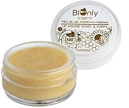 Düfte, Parfümerie und Kosmetik Lippenmousse mit Honig und Mohn - BIOnly Organic Lip Mousse Honey & Poppy