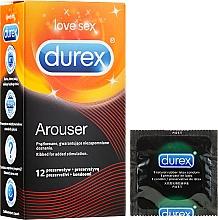 Düfte, Parfümerie und Kosmetik Gerippte Kondome 12 St. - Durex Arouser