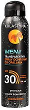 Wasserdichter Sonnenschutzspray für Männer LSF 30 - Kolastyna Suncare Men Spray SPF 30 — Bild N1