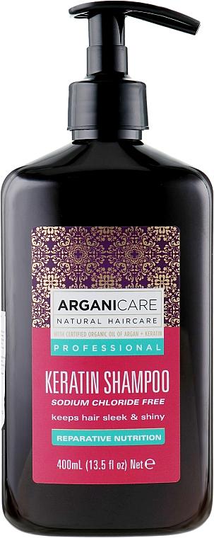 Pflegendes Shampoo mit Keratin für alle Haartypen - Arganicare Keratin Shampoo