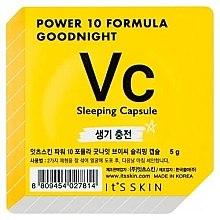 Düfte, Parfümerie und Kosmetik Tonisierende Schlafmaske für das Gesicht in einer Power-Kapsel - It's Skin Power 10 Formula Goodnight Sleeping Capsule VC