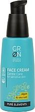 Düfte, Parfümerie und Kosmetik Sanfte Gesichtscreme mit Algen und Meersalz für empfindliche Haut - GRN Pure Elements Algae & Sea Salt Face Cream
