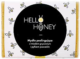 Düfte, Parfümerie und Kosmetik Peeling-Seife mit Bienenpollen und Honig - Lullalove Exfoliating Soap Bar With Honey