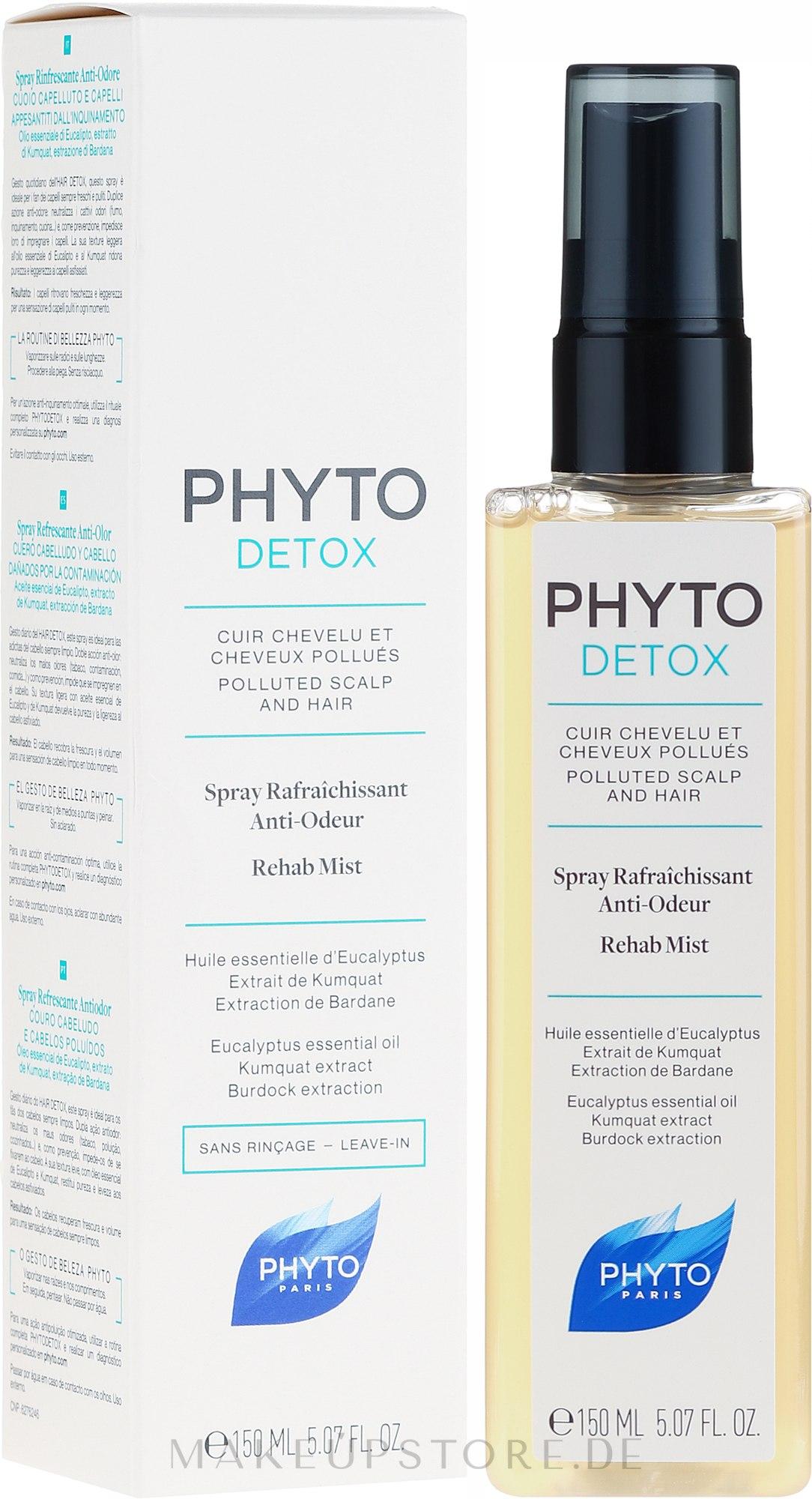 Anti-Odour-Haarspray - Phyto Detox Rehab Mist — Bild 150 ml