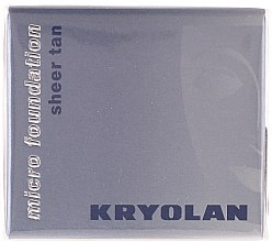 Düfte, Parfümerie und Kosmetik Mattierende Foundation - Kryolan HD Micro Foundation Sheer Tan