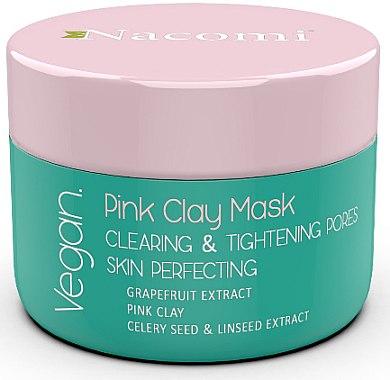 Straffende Gesichtsmaske mit rosa Ton - Nacomi Pink Clay Mask — Bild N1