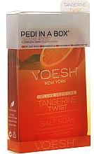 Düfte, Parfümerie und Kosmetik 4-stufige Tangerine Twist Fußpflege - Voesh Deluxe Pedicure Tangerine Twist Pedi In A Box 4in1 (1. Meer Badesalz, 2. Zuckerpeeling, 3. Schlammmaske, 4. Massagebutter)(35g)