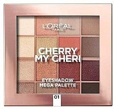 Düfte, Parfümerie und Kosmetik Lidschattenpalette - L'Oreal Paris Cherry My Cherie Eyeshadow Palette