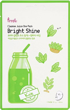 Aufhellende Tuchmaske mit Grünkohl - Prreti Cleanse Juice One Pack — Bild N1