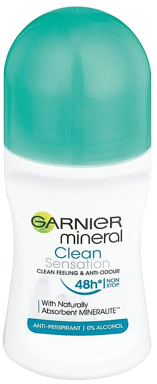 Deo Roll-on Antitranspirant - Garnier Mineral Clean Sensation Roll On — Bild N1